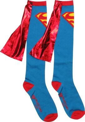 Superman Shiny Logo Caped Knee High Socks
