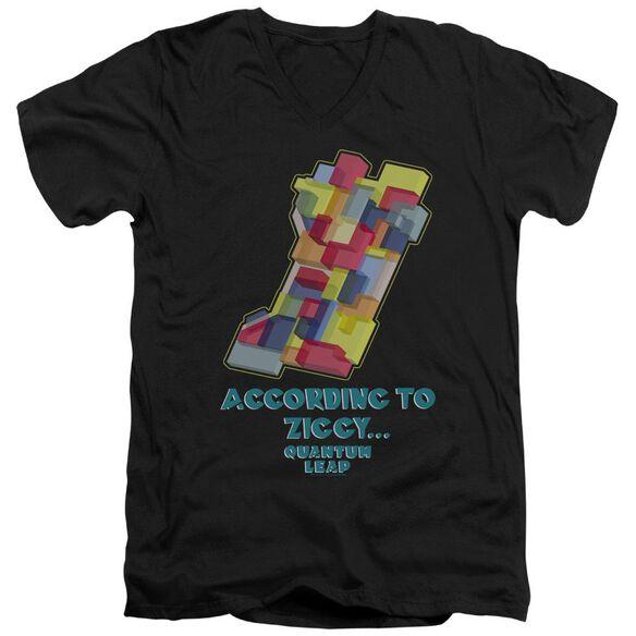 Quantum Leap According To Ziggy Short Sleeve Adult V Neck T-Shirt