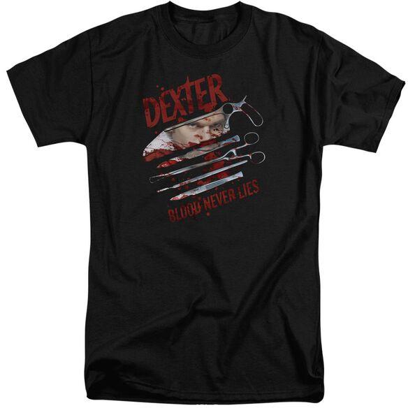 Dexter Blood Never Lies Short Sleeve Adult Tall T-Shirt