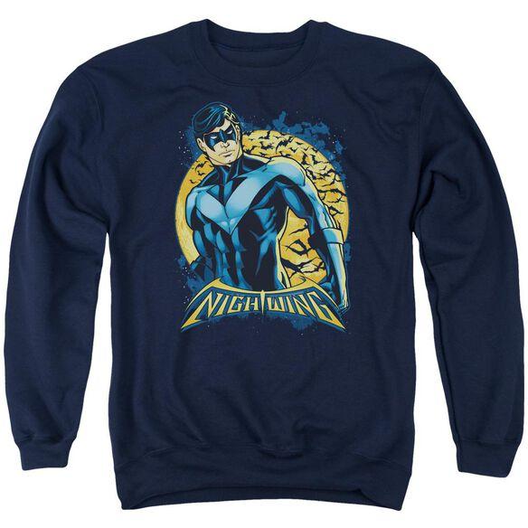 Batman Nightwing Moon Adult Crewneck Sweatshirt