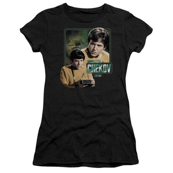 Star Trek Ensign Chekov Short Sleeve Junior Sheer T-Shirt
