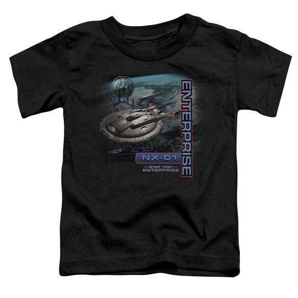 Star Trek Enterprise Nx 01 Short Sleeve Toddler Tee Black Md T-Shirt