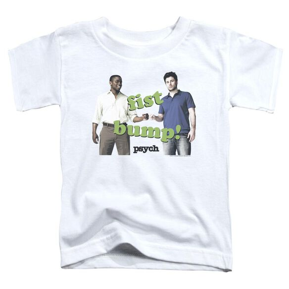 Psych Bump It Short Sleeve Toddler Tee White T-Shirt