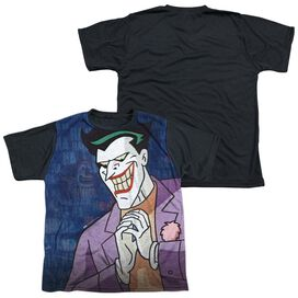 Batman The Animated Series Plotting Short Sleeve Youth Front Black Back T-Shirt