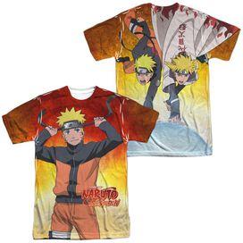 Naruto Naruto (Front Back Print) Short Sleeve Adult Poly Crew T-Shirt