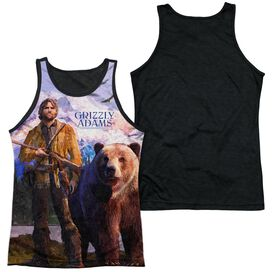 Grizzly Adams Man And Bear Adult Poly Tank Top Black Back