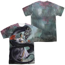 Anne Stokes Dragon Dancer (Front Back Print) Short Sleeve Adult Poly Crew T-Shirt