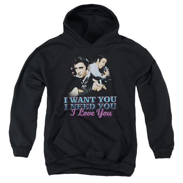 Elvis Presley I Want You Youth Pull Over Hoodie