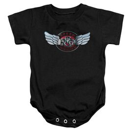 Reo Speedwagon Rendered Logo Infant Snapsuit Black