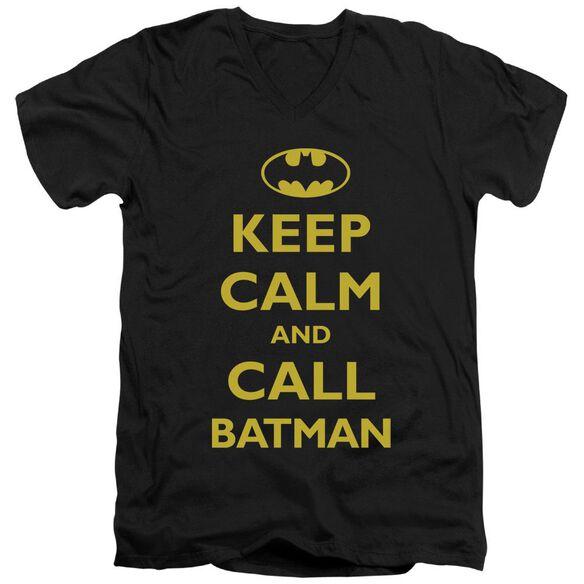 Batman Call Batman Short Sleeve Adult V Neck T-Shirt