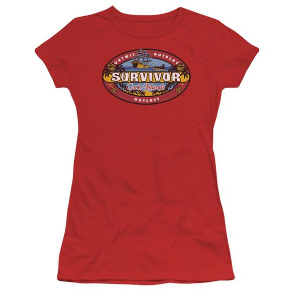 Survivor Cook Islands Short Sleeve Junior Sheer T-Shirt