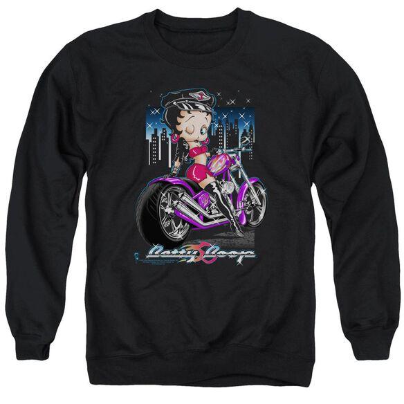 Betty Boop City Chopper Adult Crewneck Sweatshirt