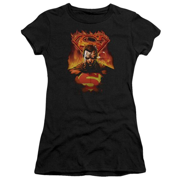 Superman Man On Fire Premium Bella Junior Sheer Jersey