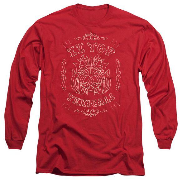 Zz Top Texicali Demon Long Sleeve Adult T-Shirt