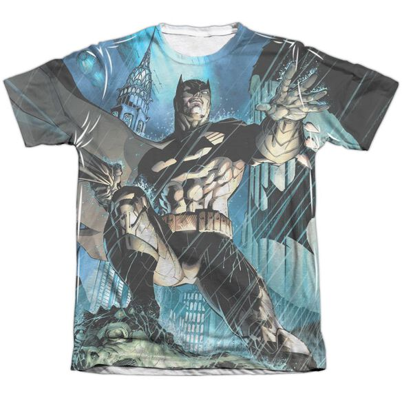 Batman Rainy Rooftop Adult Poly Cotton Short Sleeve Tee T-Shirt