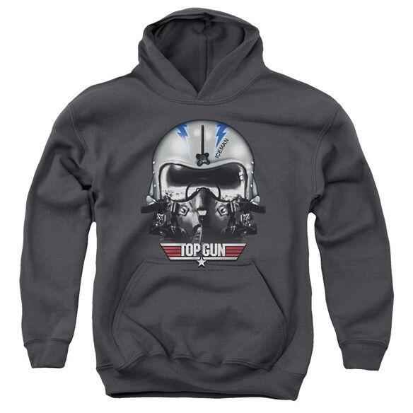 Top Gun Iceman Helmet Youth Pull Over Hoodie