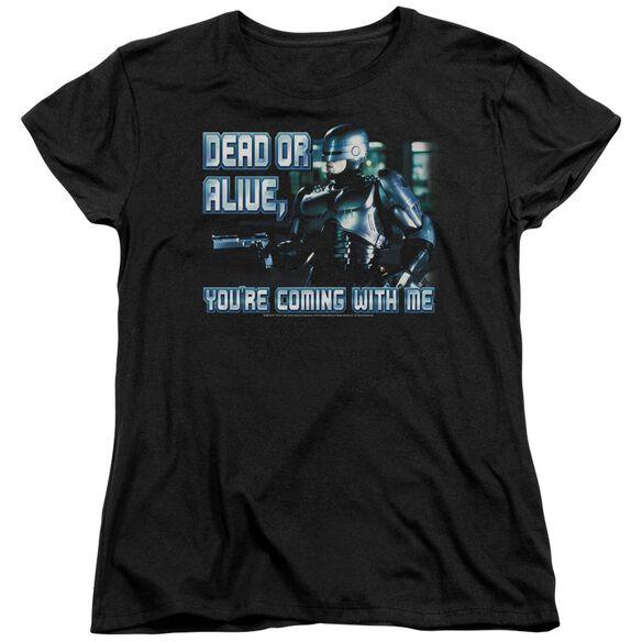 Robocop Dead Or Alive Short Sleeve Womens Tee T-Shirt