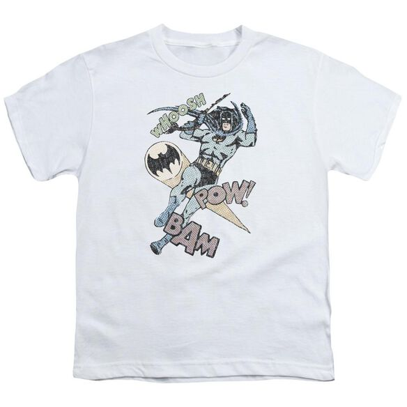 Batman Halftone Swing Short Sleeve Youth T-Shirt