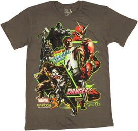 Marvel vs Capcom 3 Team Combo T-Shirt Sheer