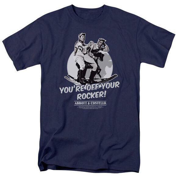 ABBOTT & COSTELLO OFF YOUR ROCKER - S/S ADULT 18/1 - NAVY T-Shirt
