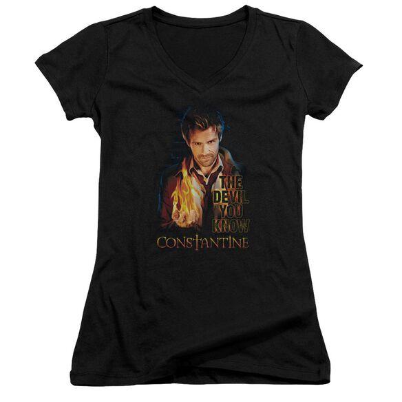 Constantine Devil You Know Junior V Neck T-Shirt