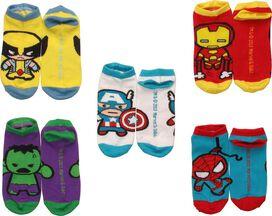 Marvel Comics Kawaii 5 Pair Ankle Socks Set