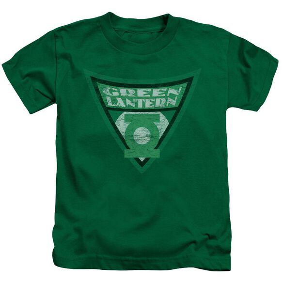 Batman Bb Green Lantern Shield Short Sleeve Juvenile Kelly Green Md T-Shirt