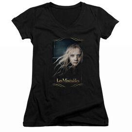 Les Miserables Cosette - Junior V-neck - Black