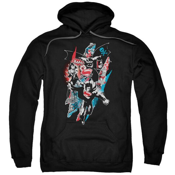 Batman V Superman Ripped Trio 2 Adult Pull Over Hoodie