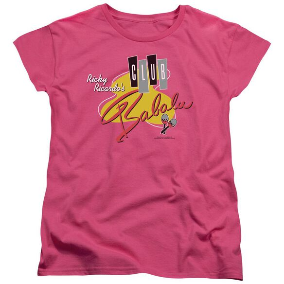 I Love Lucy Club Babalu Short Sleeve Womens Tee Hot T-Shirt