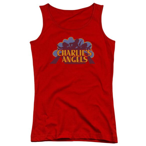 Charlies Angels Faded Logo Juniors Tank Top