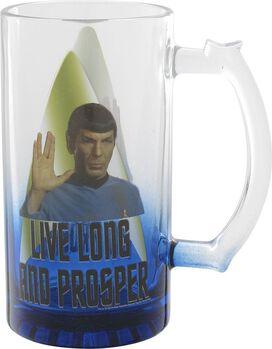 Star Trek Spock Live Long and Prosper Glass Mug