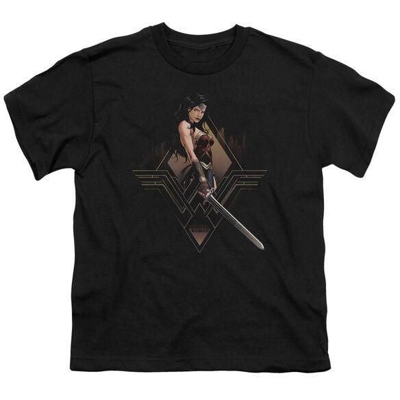 Batman V Superman City Girl Short Sleeve Youth T-Shirt