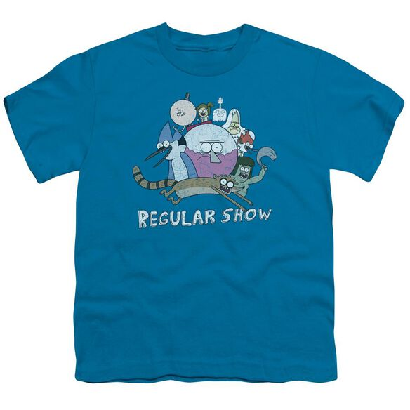 Regular Show Surrounding Benson Short Sleeve Youth T-Shirt