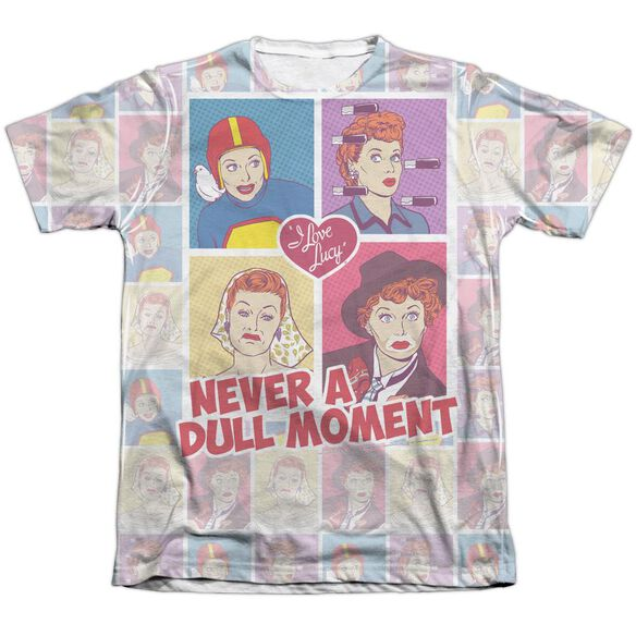 I Love Lucy All Over Panels Adult Poly Cotton Short Sleeve Tee T-Shirt