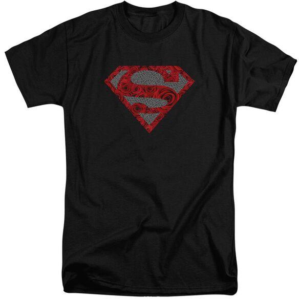Superman Elephant Rose Shield Short Sleeve Adult Tall T-Shirt