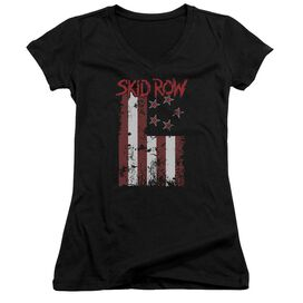 Skid Row Flagged Junior V Neck T-Shirt