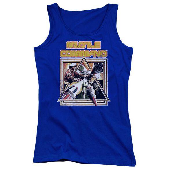 Atari Missle Commander Juniors Tank Top Royal