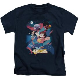 Steven Universe Group Shot Short Sleeve Juvenile Navy T-Shirt