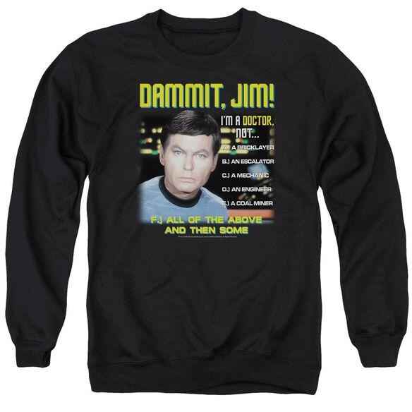 Star Trek All Of The Above - Adult Crewneck Sweatshirt - Black