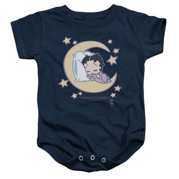 Betty Boop Sleepy Time Infant Snapsuit Navy Sm