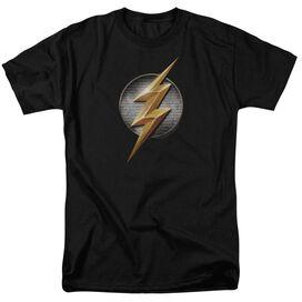Justice League Movie Flash Logo Short Sleeve Adult T-Shirt
