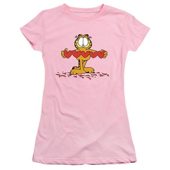 GARFIELD SWEETHEART - S/S JUNIOR SHEER - PINK T-Shirt