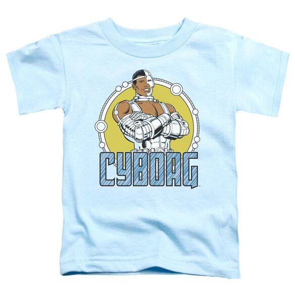 Dc Cyborg Short Sleeve Toddler Tee Carolina Blue Md T-Shirt