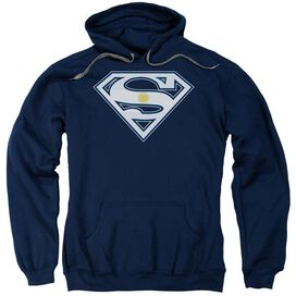 Superman Argentinian Shield Adult Pull Over Hoodie