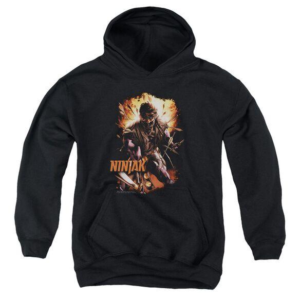 Ninjak Fiery Ninjak Youth Pull Over Hoodie