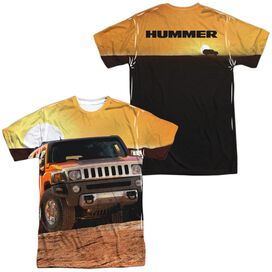 Hummer Sunset Ride (Front Back Print) Short Sleeve Adult Poly Crew T-Shirt