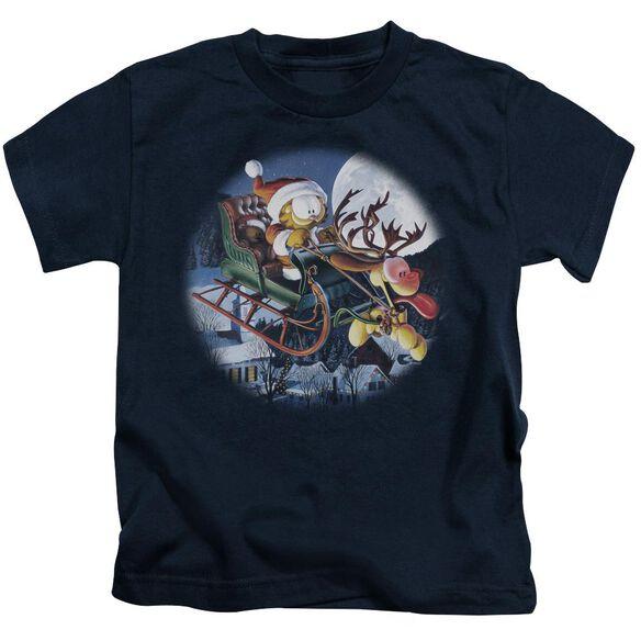 Garfield Moonlight Ride Short Sleeve Juvenile T-Shirt