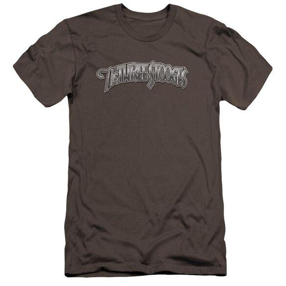Three Stooges Metallic Logo Premuim Canvas Adult Slim Fit