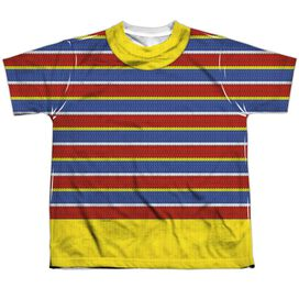 Sesame Street Ernie Costume Short Sleeve Youth Poly Crew T-Shirt
